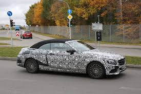 Mercedes C Class Coupe Convertible 2017 Mercedes Benz C Class Cabriolet A205 Leaves Roof Camouflage