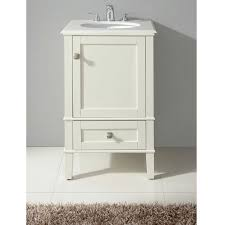 20 Inch Bathroom Vanity With Sink by 21 Inch Single Bathroom Vanity Set With Off White Marble Top