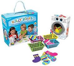 pressman chimp and zee silly socks toys