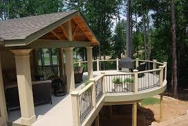 Open Patio Designs Garden Decks Trellis Covered Deck Partially Covered Deck With