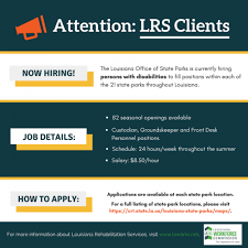 front desk jobs hiring now louisiana state parks now hiring persons with disabilities hdc news
