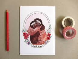 sloth valentines day card valentines day card quotes plus valentines day cards for