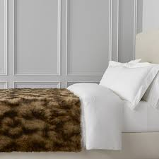 faux fur blanket marble coyote williams sonoma