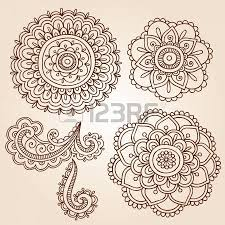 henna paisley flowers mehndi doodles design abstract