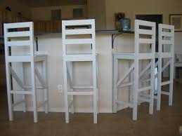 34 Inch Bar Stool Furniture Traditional Tall Bar Stool Which Are Made Of White