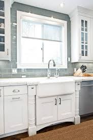 subway tile backsplash in kitchen gray glass subway tile kitchen backsplash modest interior