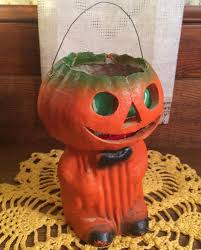 all original vintage halloween full body jack o u0027 lantern