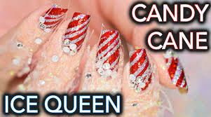 candy cane ice queen nails and fingers ahh youtube