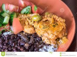 cuisine typique cuisine cubaine plat typique image stock image du fond noir