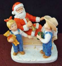 home interiors figurines denim days figurine bringing home the tree w tag mint homco home