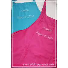 tablier de cuisine personnalisé photo tablier de cuisine fushia adulte edelweiss creation