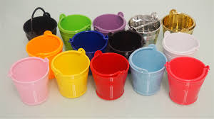small mini micro beach sand plastic pails buckets party favors