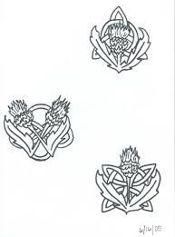 celtic knot and thistle by zzdarkchizz on deviantart
