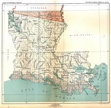 Louisiana Area Code Map by Louisiana State Maps 1743 1907