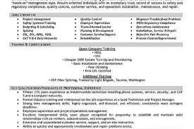 telecom technician resume field technician resume samples