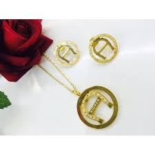 aigner earrings sets for women necklace with earring cloves