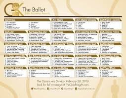Setting The Table Danny Meyer Pdf Oscars 2016 Download Our Printable Movie Checklist The Gold