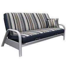 newport navy stripe pattern full futon cover with coordinating