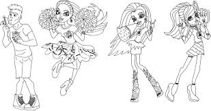 coloring page of monster high ghouls spirit for kids coloring point