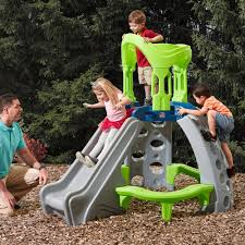 step2 castle top mountain climber with 2 climbing rock walls and