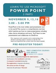 introduction to powerpoint calendar tooele city