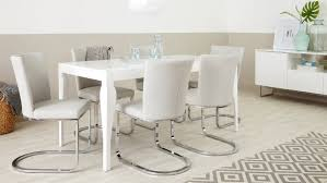 modern white gloss dining table and designer chairs youtube