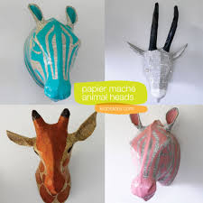 paper mache ideas for home decor zebra petal papier mâché head animal heads wall decor kids animal