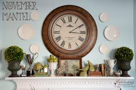 my november mantel how to decorate a mantel series celebrating