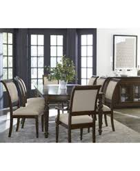 syrah dining furniture 7 pc set dining table u0026 6 side chairs