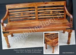 panchine legno pouff panche etniche panca etnica in legno sheesham