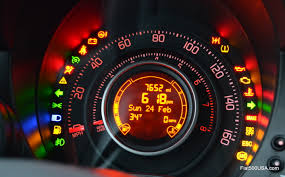 a look at the fiat 500 instrument panel fiat 500 usa