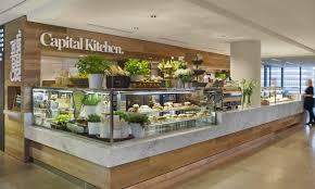 Glass Display Cabinet For Cafe Front Side Capital Kitchen Restaurant Food Display Pinterest