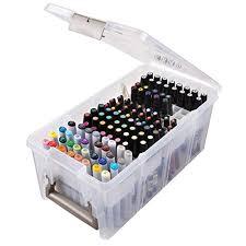 amazon com artbin marker storage satchel with 1 marker tray and 2