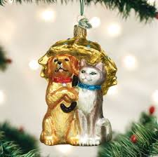 world raining cats and dogs ornament magpies gifts