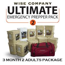 month ultimate prepper pack for 2 adults wise company