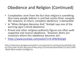 Blind Obedience To Authority General Questions What Is Obedience What Purpose Does Obedience