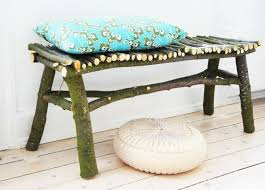 How To Make An Outside Bench Diy How To Make A Twig Bench Bench Patios And Twig Furniture