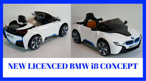 Bmw I8 Concept - new licenced bmw i8 concept 12v ride on car for kids rc car youtube