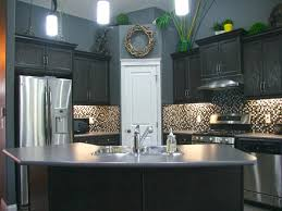 creative gray kitchen walls with cream cabinet 9322 homedessign com