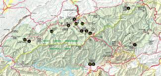 Appalachian Trail Massachusetts Map by Great Smoky Mountains National Park Hiking Trails Map Click Map