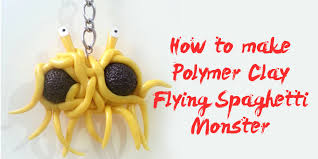 how to make a flying spaghetti ornament polymer clay