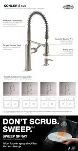Pull Down Kitchen Faucet by Kohler Sous Pro Style Single Handle Pull Down Sprayer Kitchen