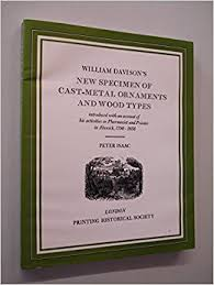 new specimen of cast metal ornaments and wood types william davison