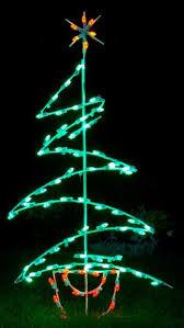 of zig zag tree led light decoration