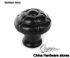 iron birdcage cabinet pull handle knobs matte black finish c c