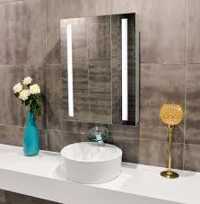 Battery Bathroom Mirror by Lighted Bathroom Mirror Afrozep Com Decor Ideas And Galleries