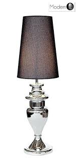 Silver Nightstand Lamps Black And Silver Table Lamps Tall Chrome Silver Table Lamp With