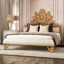 Luxury Designer Beds - luxurious ornate gold leaf bed home pinterest leaves luxury