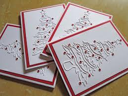 tree cards embossed card set