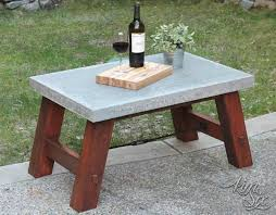 concrete and wood outdoor table fabulous concrete coffee table